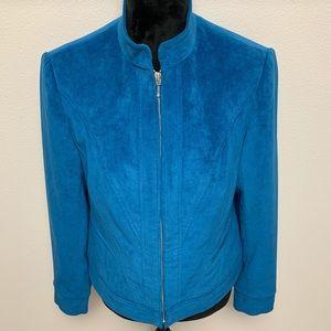Tribal Blue Zip Up Blazer Jacket 8